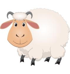 Cartoon baby sheep vector image