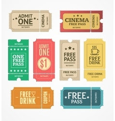Coupon and Tickets Set vector image
