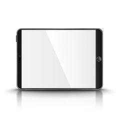 Dark modern tablet computer with blank screen vector image vector image