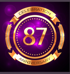 eighty seven years anniversary celebration with vector image vector image