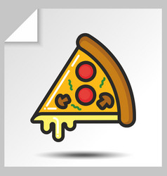 fast food icons 8 vector image