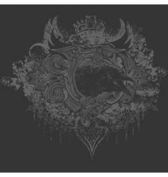Screaming crow illustration vector