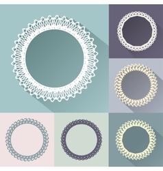 Set of round vintage frames vector image vector image