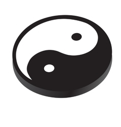Sign Yin Yang symbol of peace contrast harmony vector image