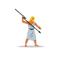Zeus sign In Greek mythology king of gods vector image