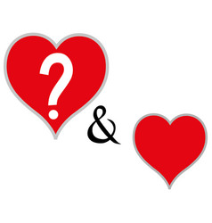 heart - icon vector image vector image