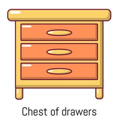 nightstand icon cartoon style vector image