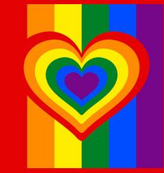 rainbow heart heart lgbt color symbol of vector image vector image