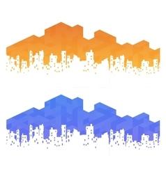 urban landscape real estate vector image vector image