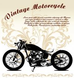 vintage motorcycle vector image vector image