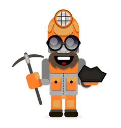 a coal miner striking working retro background vector image