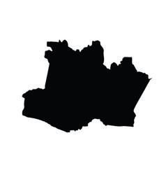Amazonas map silhouette amazon map silhouette vector