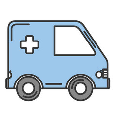 Ambulance car isolated icon vector