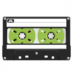 audio cassette black transparent vector image