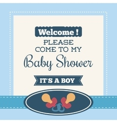 Baby pacifier invitation card design vector image