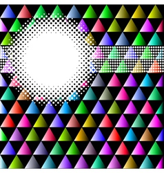 background with colored triangles and circles vector image
