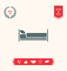 bed symbol icon vector image