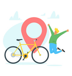 Bicycle travel tourism vector