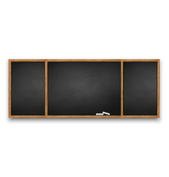 blackboard with wooden frame vector image