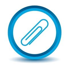Blue clip icon vector