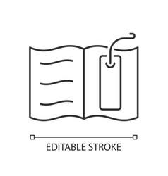 Bookmark linear icon vector