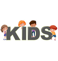 boy and girl character with kids icon vector image