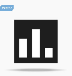 Business info graphic icon black and white vector