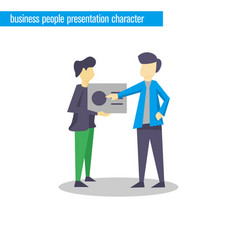 business people presentation character vector image