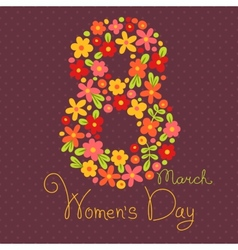 Card Womens Day on March 8 vector image