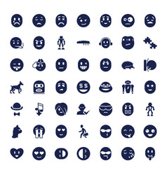Character icons vector