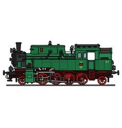 Classic green steam locomotive vector image