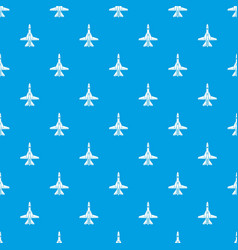 commercial plane pattern seamless blue vector image