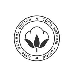 Cotton stamp vector