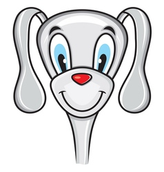 Cute funny dog vector