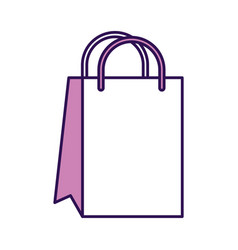 Cute shopping bag cartoon vector