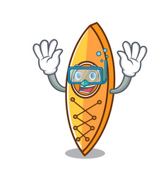 diving canoe character cartoon style vector image