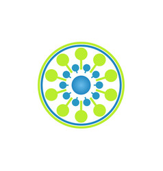 dot tech business logo vector image