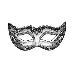 Dotwork vintage mask vector