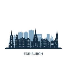 edinburgh skyline monochrome silhouette vector image