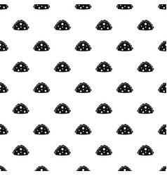 Empanada cheburek or calzone pattern vector