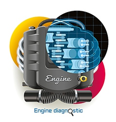 Engine Diagnostic vector