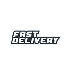 fast delivery icon vector image