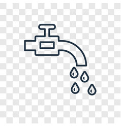 faucet concept linear icon isolated on vector image