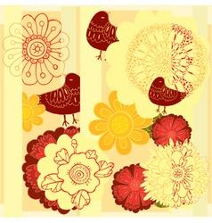 flowerbird vector image
