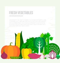 Fresh Vegetables Concept vector image
