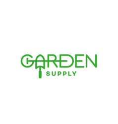 garden supply logo vector image