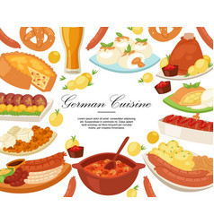 german cuisine background banner vector image