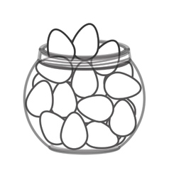Glass bowl with eggs vector