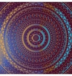 Gold Mandala Indian decorative pattern vector image