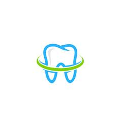 green dental logo icon design vector image